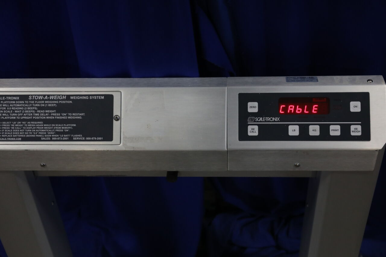 SCALE-TRONIX Stow-A-Weigh Scale