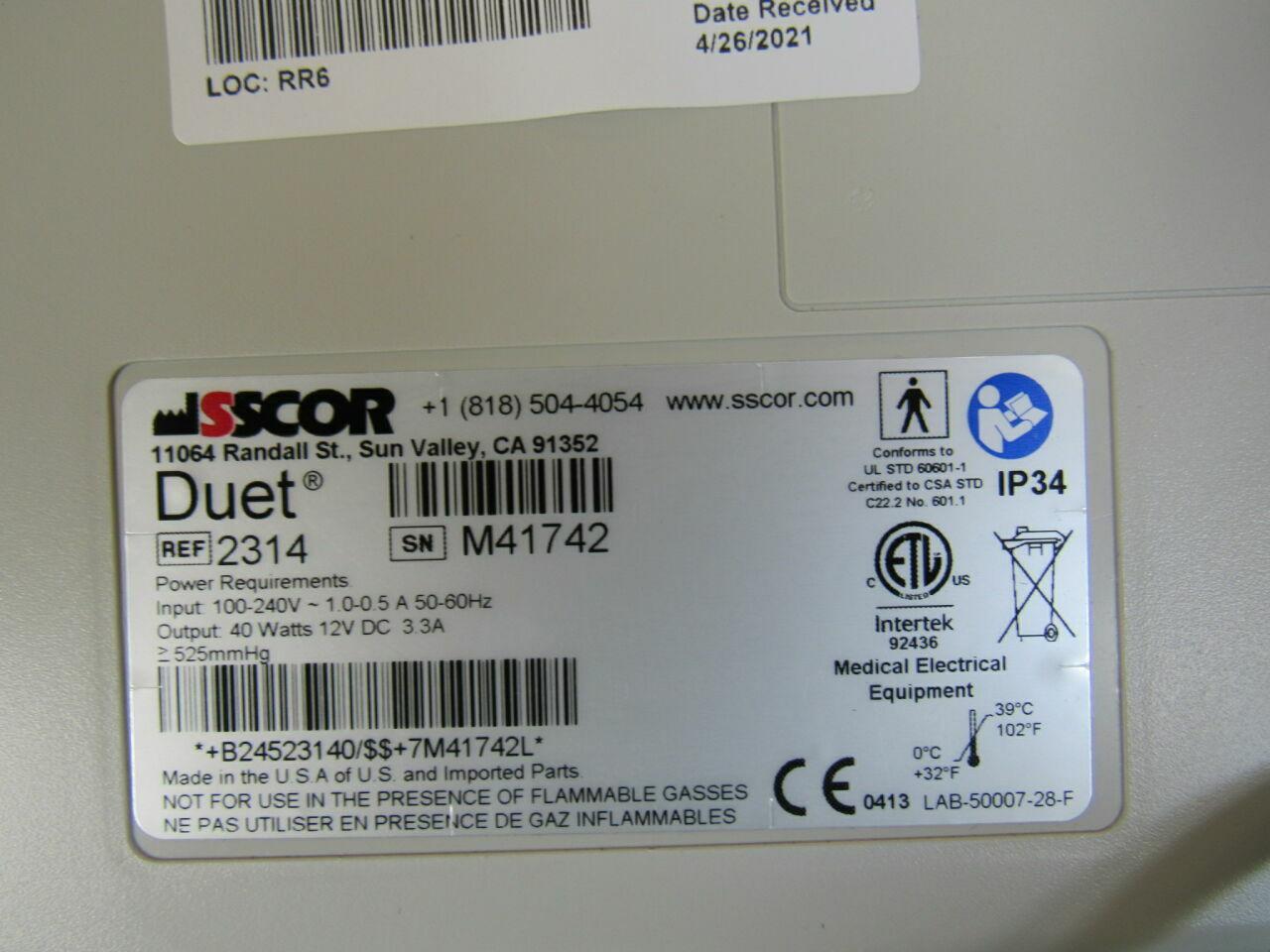 SSCOR Duet Aspirator