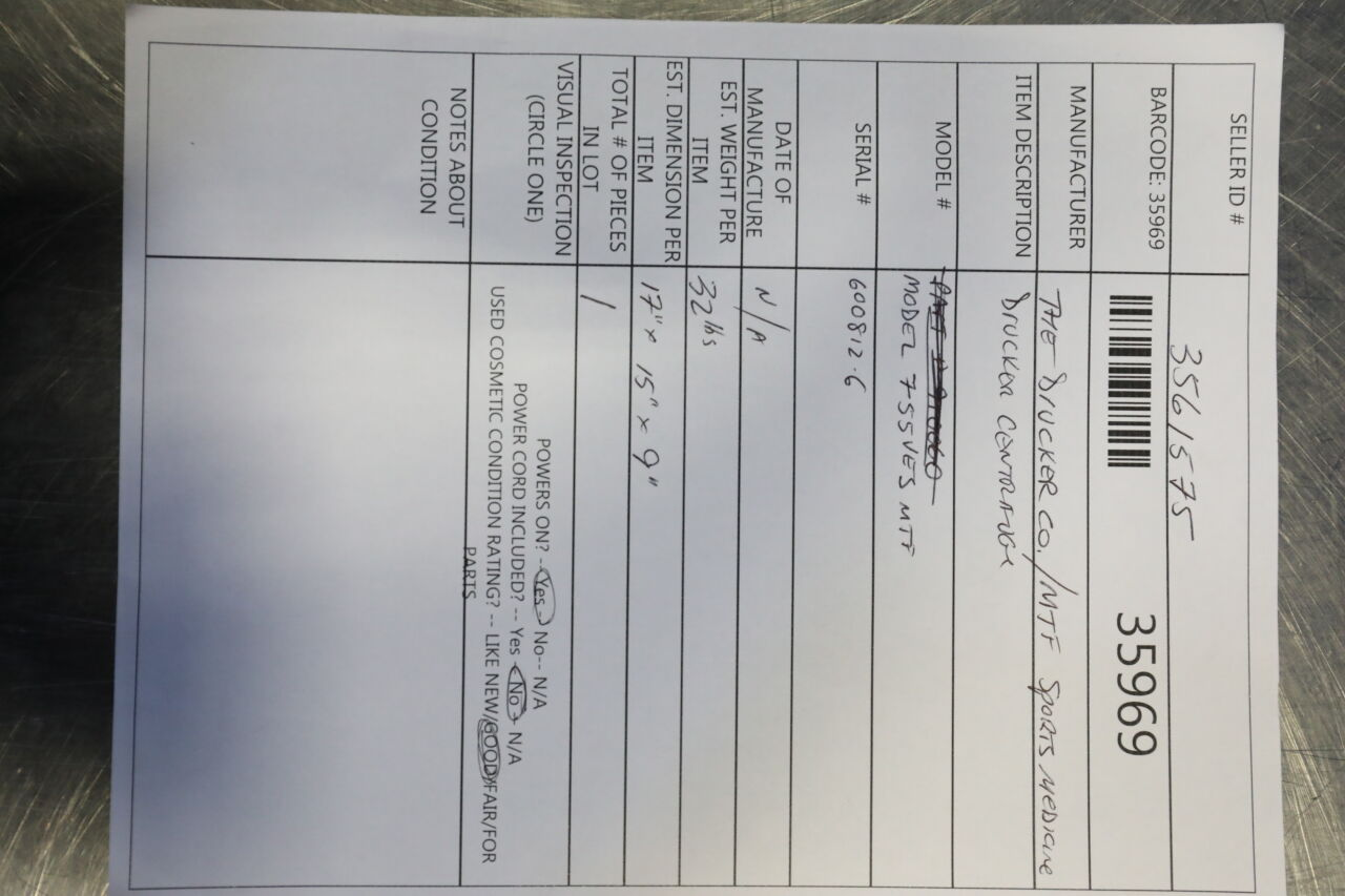 DRUCKER 755VES MTF Centrifuge