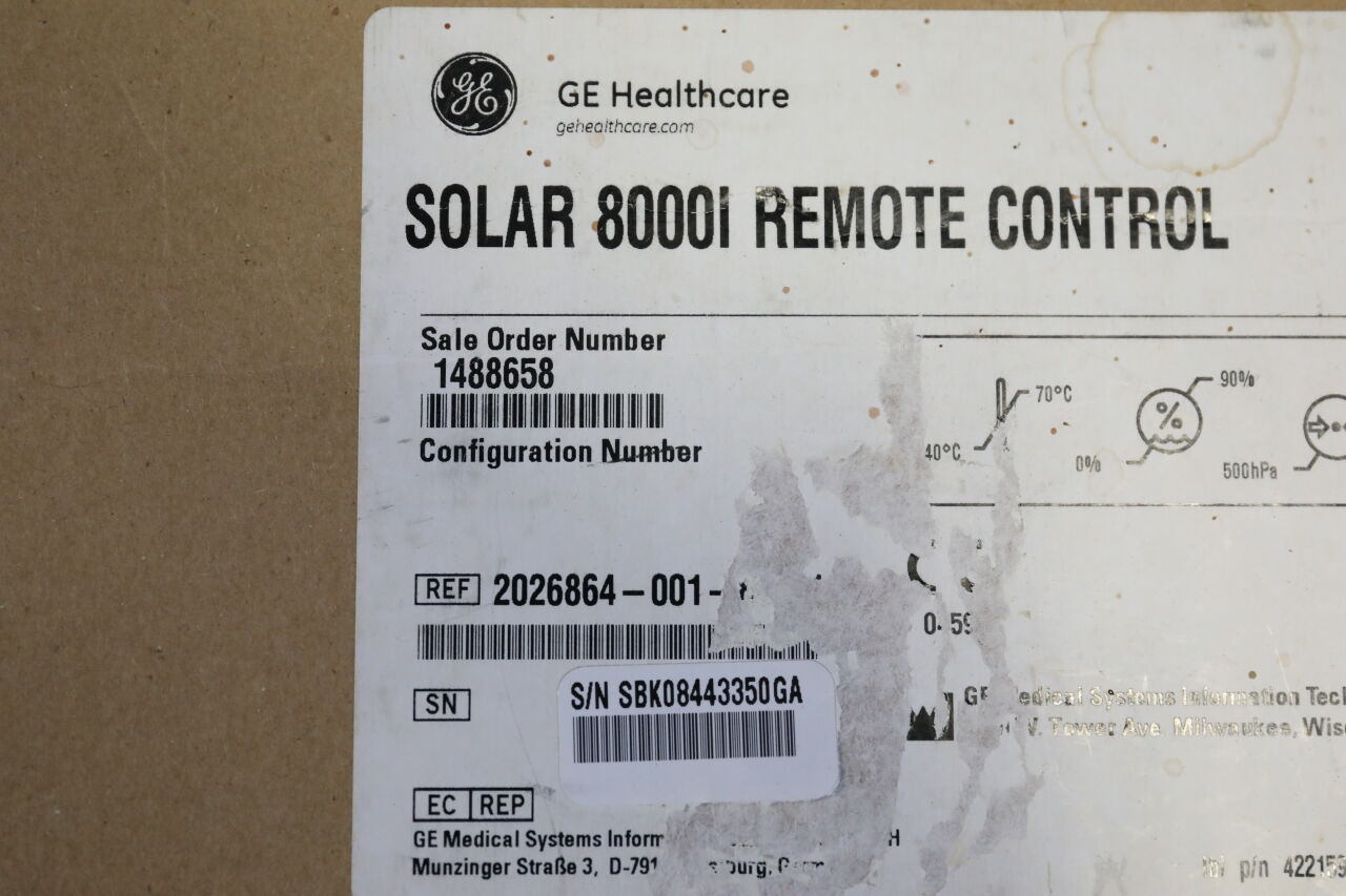GE Solar 8000i Remote Control for Monitor