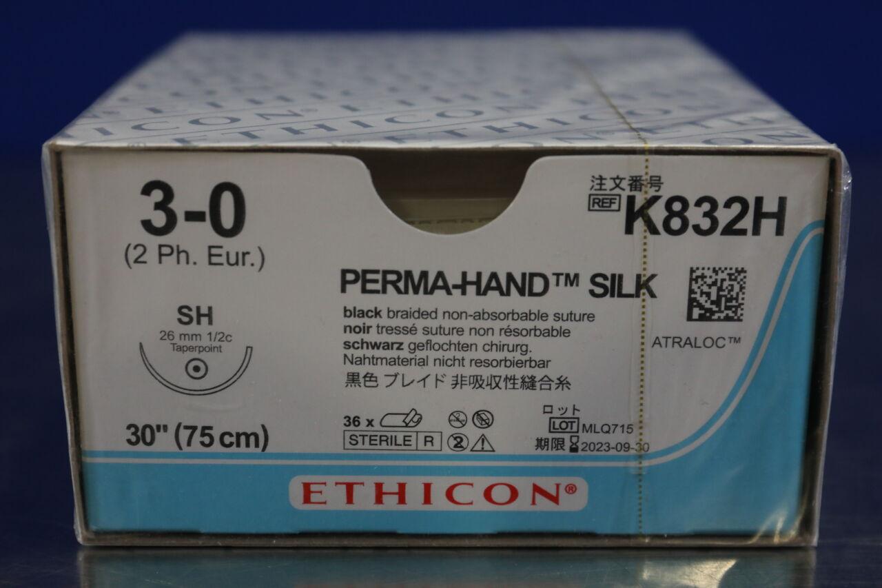 ETHICON Perma-Hand Silk 3-0 Sutures