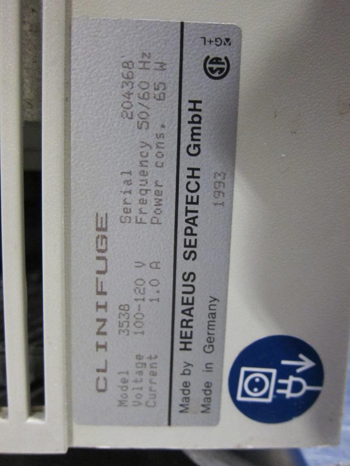 BAXTER/HERAEUS Clinifuge Centrifuge for sale