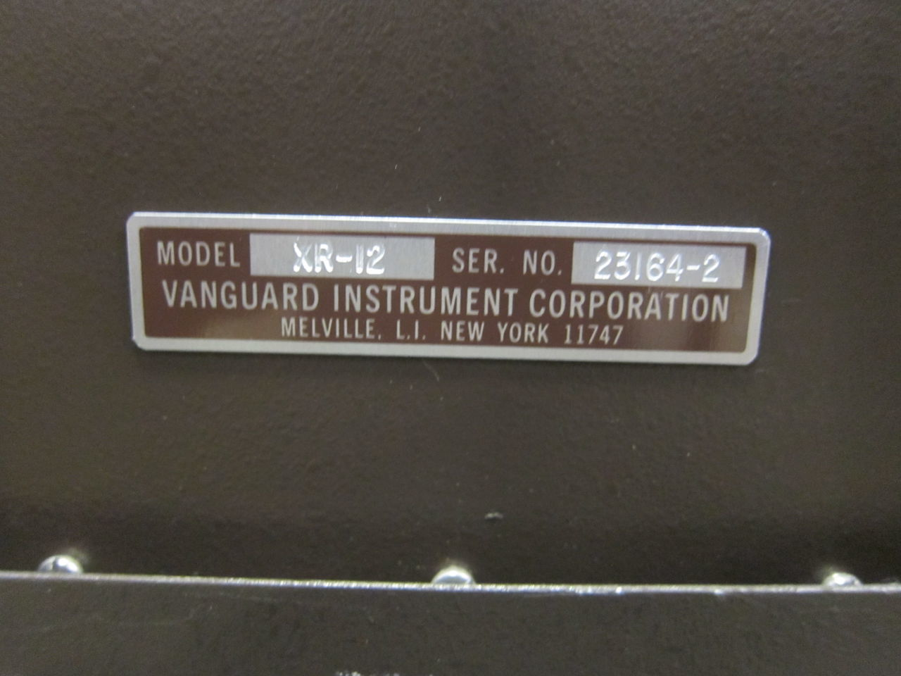 VANGUARD INSTRUMENTS CORP XR-35 Film Processor for sale