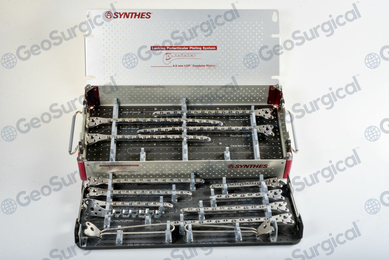 SYNTHES 105.221 4.5mm LCP Condylar Plate Implant Set