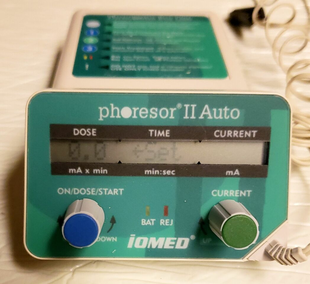 IOMED Phoresor II Auto PM800 Iontophoresis Iontophoretic Drug Delivery System Micro-Current for sale