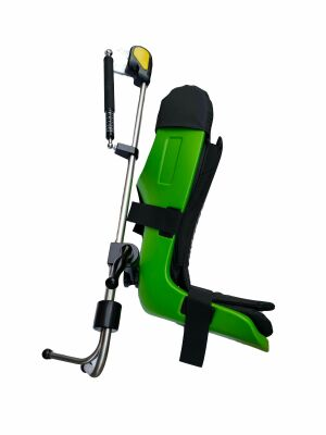 "JZZN PRODUCTS NEW COLOR GREEN ""Yellow Fin"" Style Lithotomy Pneumatic Stirrups w/ table brackets O/R Table"