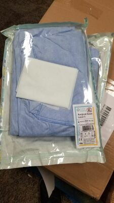 LUCCA Pallet of 1500 Level 3 Surgical Gowns L or XL TRS-1932