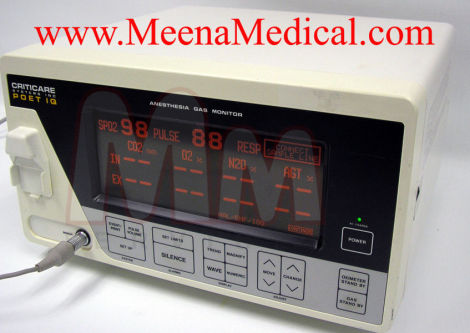 CRITICARE POET IQ 602-3A Anesthesia Monitor for sale