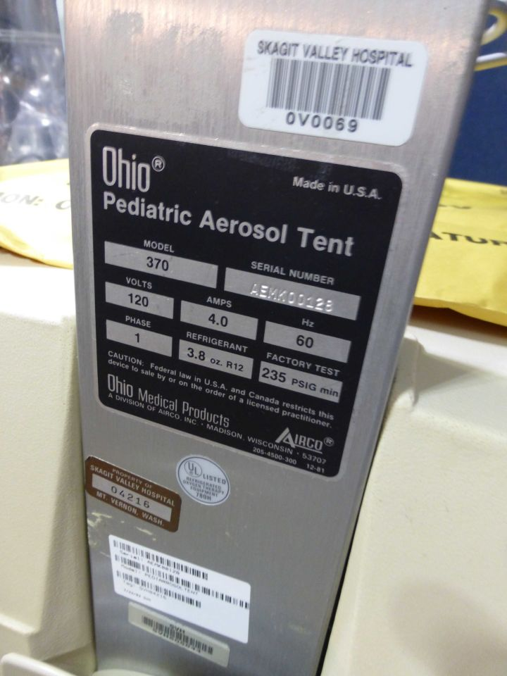 OHIO 370 Oxygen Tent for sale