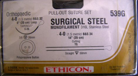 ETHICON 539G Sutures for sale