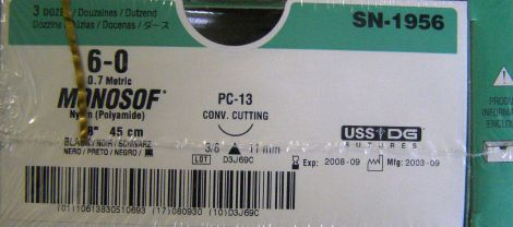 US SURGICAL SN-1956 Sutures for sale