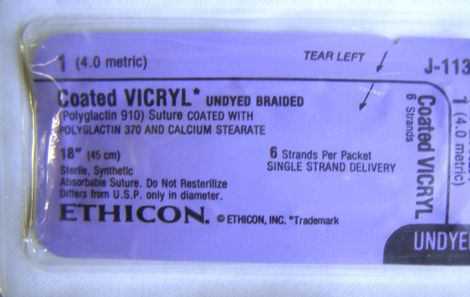 ETHICON J-113 Sutures for sale