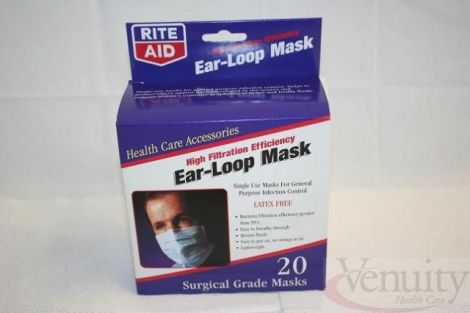 Filtration High 860336 - Bx Rite-aid For Masks New Sale Listing Efficiency Surgical Mask Dotmed 22 Ear-loop