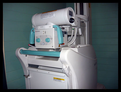 Used SHIMADZU MUX 100H Mobile Art Portable X-Ray For Sale