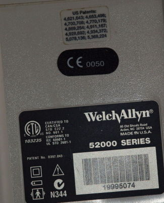 WELCH ALLYN 52000 PROTOCOL Bedside Monitor for sale